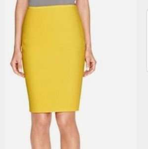 The Limited Mustard Yellow Pencil Skirt, Textured.